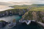 aerial view of Dunquin Harbour, Dingle County Kerry - small group tours Ireland