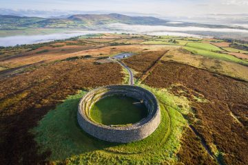 Ancient stone fort at Grianán of Aileach, County Donegal