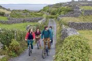 group biking on Aran Islands