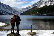 friends sharing a moment at Glendalough