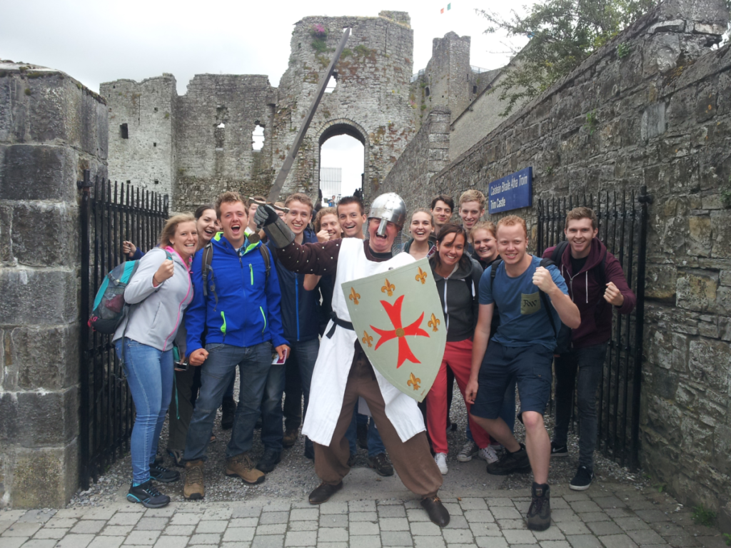 small group tour at Trim Castle Ireland