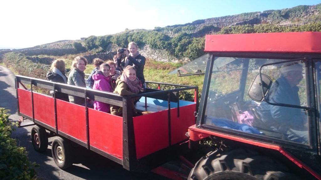 tractor tour of Aran Islands