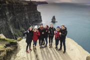 small group tour enjoying their Cliffs of Moher tour from Dublin