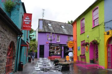 colourful street in the gourmet capital of Ireland , Kinsale