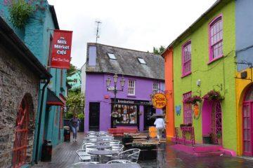 colourful street in the gourmet capital of Ireland , Kinsale