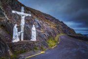 The crucifix on the Slea Head drive on the Dingle Peninsula Ireland