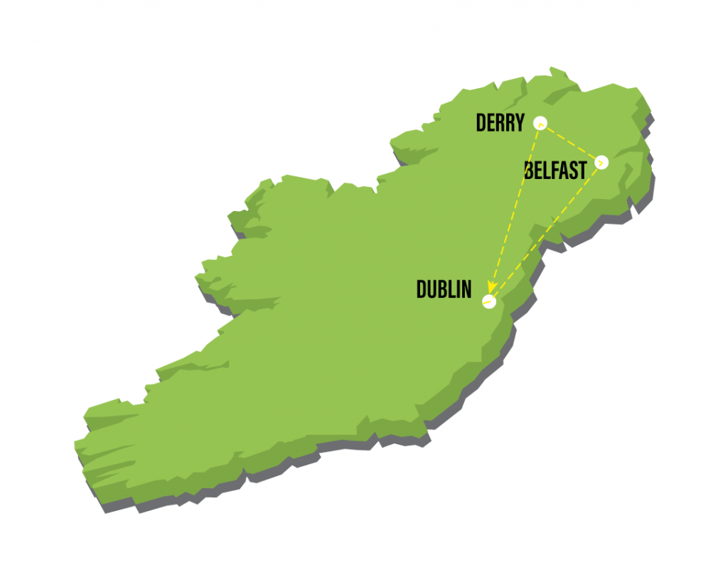 Map Of Northern Ireland Cities.Irish Experience Tours