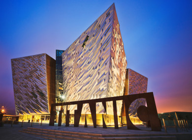 night time view of Titanic Museum Northern Ireland
