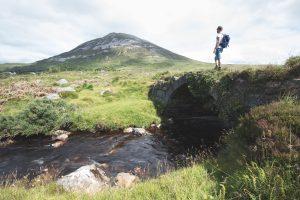 solo traveler at Connemara National Park