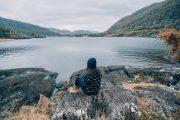 solo traveler overlooking Killarney lakes - small group tour of Ireland