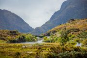 jaunting cart ride through the Gap of Dunloe , Kerry , Ireland