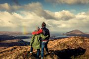 couple overlooking Connemara on small group tour