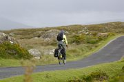 solo traveler biking around Ireland