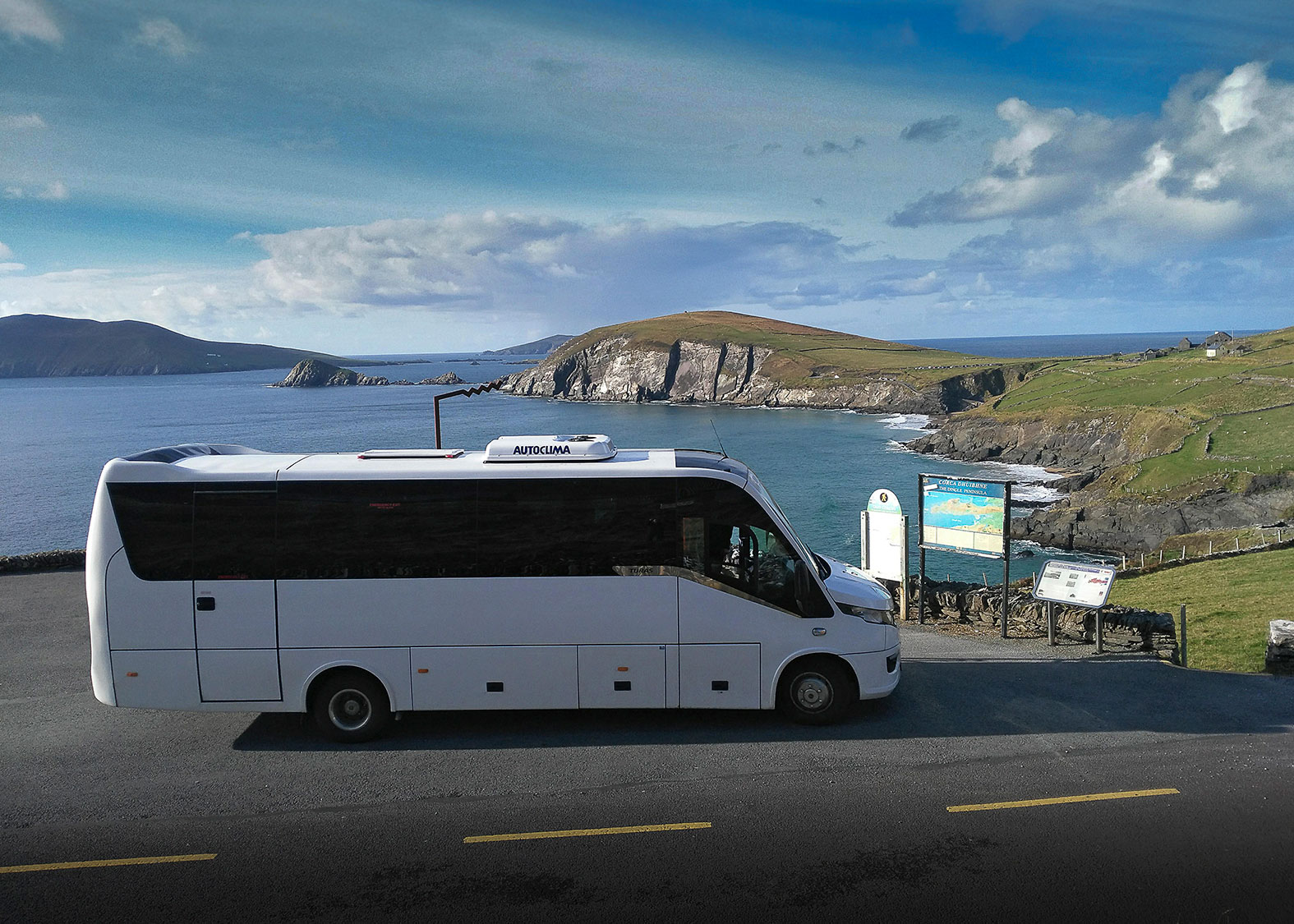 Irish Experience Tours small group bus tour stopped at Slea Head, Dingle , Ireland
