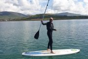 Stand up paddle boarding on Dingle harbour and Fungie the Dolphin