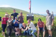 small group doing Star Wars pose on the Dingle Peninsula