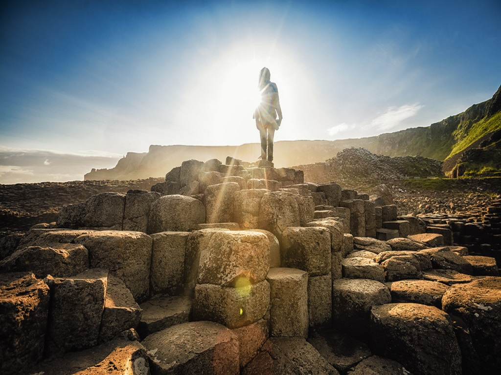 Solo travel on our small group tour at Giants Causeway