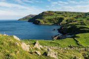 Torr Head hiking Causeway coast Northern Ireland