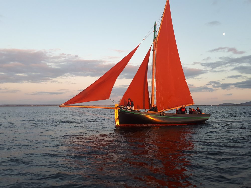 Galway Bay Boat Tours: A Traditional Handcrafted Galway Hooker Boat.